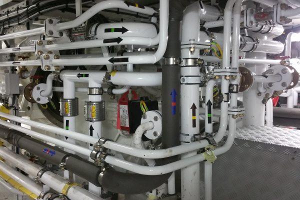 Costruzione impianti idraulici per yacht